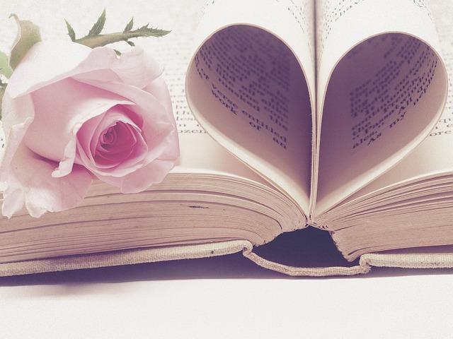 stránky knihy do tvaru srdca a ruža.jpg